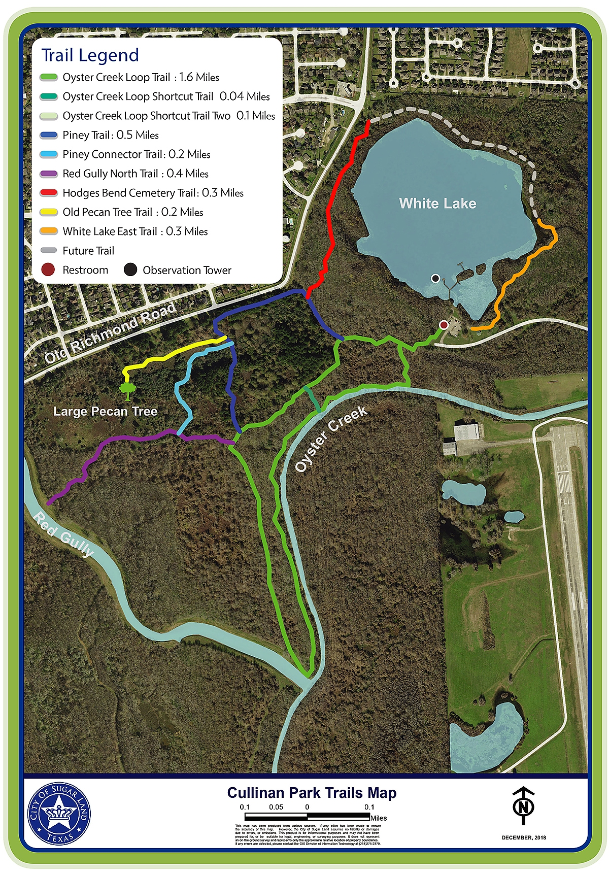 Cullinan Park Trail Map
